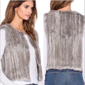 525 America 100% Genuine Rabbit Fur Vest